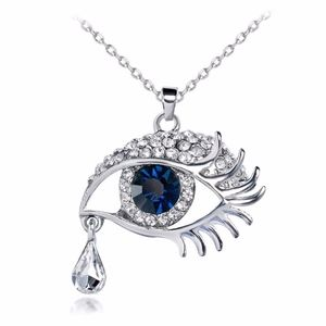 Jewelry - SOON Royal Blue Evil Eye Crystal Pendant Necklace
